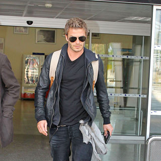 David Beckham in David Beckham Arriving at Nice Airport