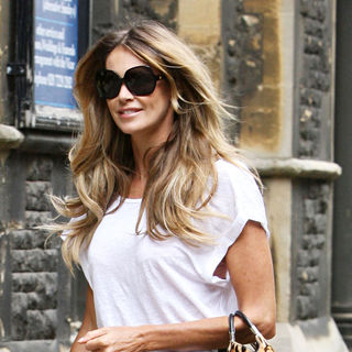 Elle MacPherson in Elle Macpherson Arriving at A Church to Attend A Prize Giving Ceremony for Her Children's School