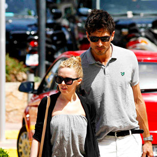 Kylie Minogue, Andres Velencoso in Kylie Minogue and Andres Velencoso Arriving in Ibiza