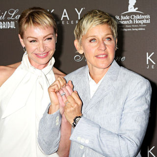 Portia de Rossi, Ellen DeGeneres in Portia de Rossi and Ellen DeGeneres Arrive at The Neil Lane Bridal Collection Debut