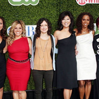 Leah Remini, Marissa Jaret Winokur, Sara Gilbert, Julie Chen, Holly Robinson Peete, Sharon Osbourne in 2010 CBS, CW, Showtime Summer Press Tour Party