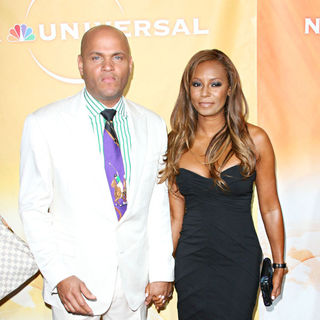 Stephen Belafonte, Melanie Brown in NBC Universal's 2010 TCA Summer Party