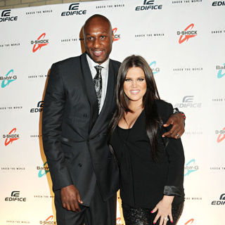 Lamar Odom, Khloe Kardashian in Casio's Shock The World 2010 Event - Red Carpet