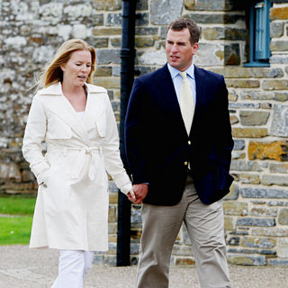 Peter Phillips, Autumn Phillips in Autumn Phillips and Peter Phillips Arriving At The Castle of Mey