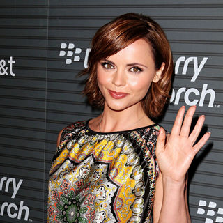 Christina Ricci in Blackberry Torch From AT&T U.S. Launch Party - Arrivals