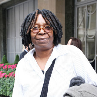 Whoopi Goldberg in Whoopi Goldberg Outside Claridges Hotel in Central London
