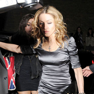 Madonna Arrives at Swanky East London Venue 'Shoreditch House' to Celebrate Her 52nd Birthday