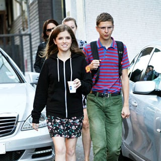 Anna Kendrick, Michael Cera in Anna Kendrick and Michael Cera Leaving The London Studios After Appearing on GMTV