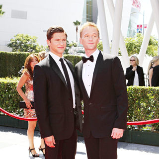 David Burtka, Neil Patrick Harris in 2010 Creative Arts Emmy Awards - Arrivals