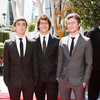 Jorma Taccone, Andy Samberg, Akiva Schaffer in 2010 Creative Arts Emmy Awards - Arrivals