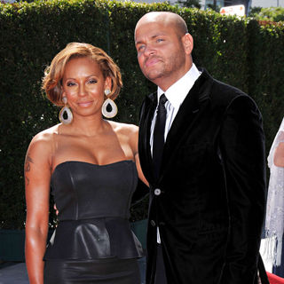 Melanie Brown, Stephen Belafonte in 2010 Creative Arts Emmy Awards - Arrivals