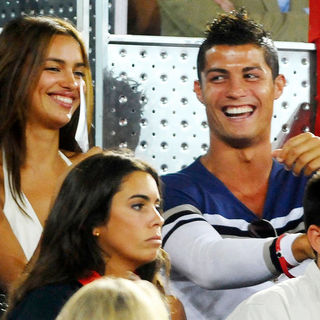 Irina Shayk, Cristiano Ronaldo in Spain vs USA Basketball Game