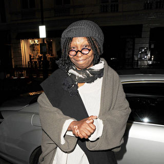 Whoopi Goldberg Arriving Back at Her Hotel, Having Performed in West End Musical 'Sister Act'
