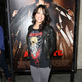 Michelle Rodriguez in The LA Premiere of 'Machete'
