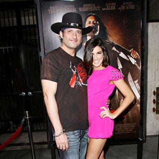 Robert Rodriguez, Electra Avellan in The LA Premiere of 'Machete'