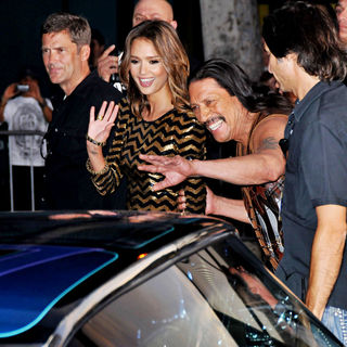 Jessica Alba, Danny Trejo in The LA Premiere of 'Machete'