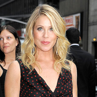 Christina Applegate in Celebrities Outside The Ed Sullivan Theater for 'The Late Show with David Letterman'