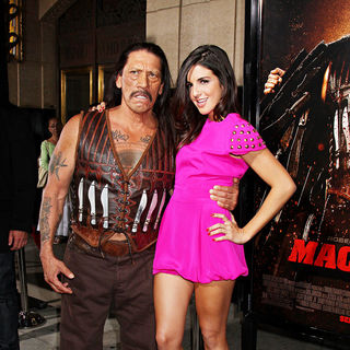Danny Trejo, Electra Avellan in The LA Premiere of 'Machete'