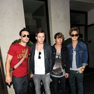 Mcfly Outside The May Fair Hotel
