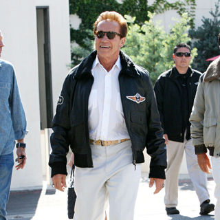Arnold Schwarzenegger in Arnold Schwarzenegger Seen Out and About Beverly Hills