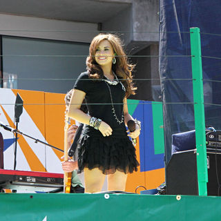 Demi Lovato in 2010 US Open Arthur Ashe Kids Day