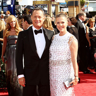 Tom Hanks, Rita Wilson in The 62nd Annual Primetime Emmy Awards