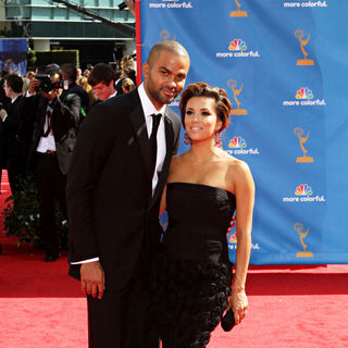 Tony Parker, Eva Longoria in The 62nd Annual Primetime Emmy Awards