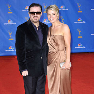 Ricky Gervais, Jane Fallon in The 62nd Annual Primetime Emmy Awards