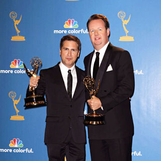 Dave Boone, Paul Greenberg in The 62nd Annual Primetime Emmy Awards - Press Room