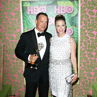 Tom Hanks, Rita Wilson in HBO's 62nd Annual Primetime Emmy Awards After Party - Arrivals