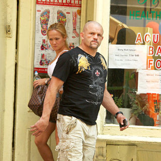 Chuck Liddell and Heidi Northcott Leaving Back, Foot and Rub Acupuncture - wenn2981762