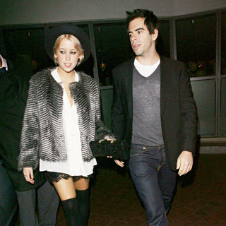 Peaches Geldof, Eli Roth in Peaches Geldof and Eli Roth Leave The Ivy Restaurant and Head to Bungalow 8 Nightclub