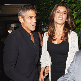 George Clooney, Elisabetta Canalis in George Clooney and Elisabetta Canalis Leaving Ago Restaurant in West Hollywood