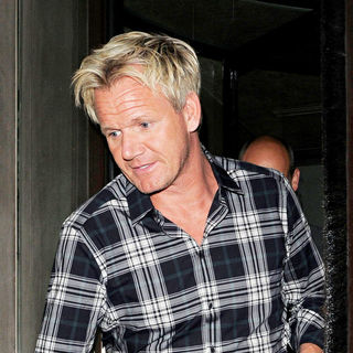 Gordon Ramsay in Gordon Ramsay Is Seen Arriving at His Restaurant Maze to Join Eva Longoria and Victoria Beckham