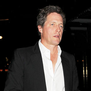 Hugh Grant - Hugh Grant Leaving J Sheekey Restaurant