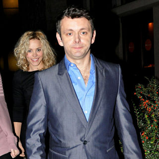 Rachel McAdams, Michael Sheen in Rachel McAdams and Michael Sheen Leaving The Theatre After The Screening of 'Beautiful Boy'