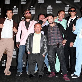 Johnny Knoxville, Bam Margera, Steve-O, Ehren McGhehey, Ryan Dunn, Wee Man in The 2010 MTV Video Music Awards (MTV VMAs) - Press Room