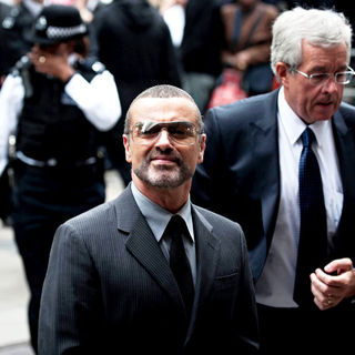 George Michael in George Michael Arrives at Highbury Corner Magistrates Court to be Sentenced for Driving Offences