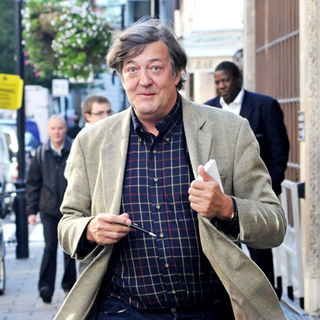 Stephen Fry in Stephen Fry Outside at The BBC Radio One Studios