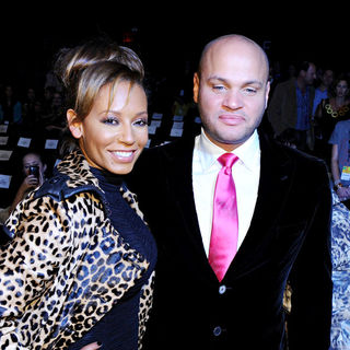 Melanie Brown, Stephen Belafonte in Mercedes-Benz IMG New York Fashion Week Spring/Summer 2011 - LAMB - Inside Arrivals