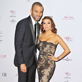 Tony Parker, Eva Longoria in The 'Par Coeur Gala 2010'