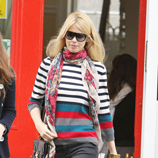 Claudia Schiffer in Claudia Schiffer After Dropping Her Son at School
