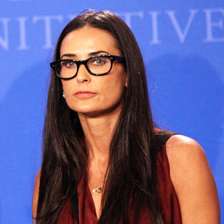 Demi Moore in Clinton Global Initiative 2010