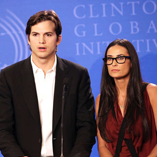 Ashton Kutcher, Demi Moore in Clinton Global Initiative 2010