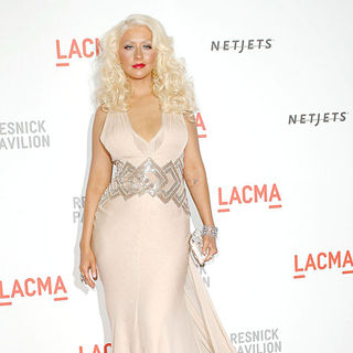 Christina Aguilera in Opening Gala and Unmasking of The Resnick Pavilion