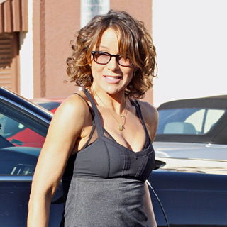 Jennifer Grey in Celebrities at The Dance-Rehearsal Studio for ABC-TV's 'Dancing with the Stars'