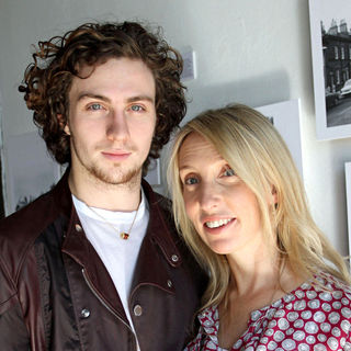 Aaron Johnson, Sam Taylor-Wood in The Launch of 'This Boy: John Lennon in Liverpool'