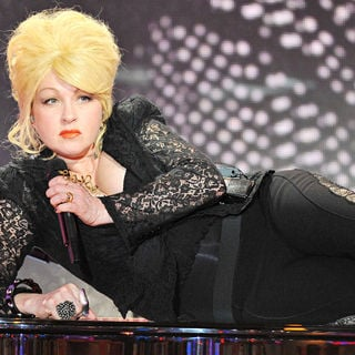 Cyndi Lauper in Cyndi Lauper Performing on TV Talk Show 'Vivement Dimanch'