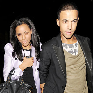 Rochelle Wiseman, Marvin Humes in Rochelle Wiseman Enjoys A Night Out With Marvin Humes