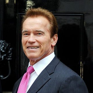 Arnold Schwarzenegger in Arnold Schwarzenegger Arrives at 10 Downing Street for A Meeting with Prime Minister David Cameron